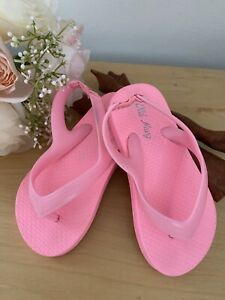 Old Navy Toddler Girls Pink Flip Flops Toddler Sandals Strap Flip Flops Size 8