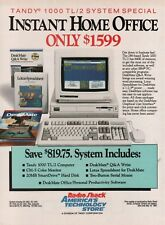 1990 Radio Shack Tandy 1000 TL/2  Instant Home Office Computer Vintage Print Ad