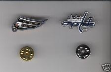 WASHINGTON CAPITALS Lot of 2 Different METAL LAPEL PINS NHL Hockey Team Logo Pin