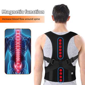 Men Women Magnetic Back Posture Corrector Support Low Shoulder Brace Belt Unisex