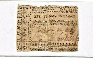 "20 SHILLINGS ""OLD COLONIAL "" 1761 ""NORTH CAROLINA"" (20 SHILLINGS) ""COLONIAL"" !!!"