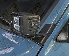 "4"" Windshield LED Light Bar Mounting Brackets For Jeep Cherokee XJ MJ 84-01 CKAS"