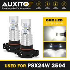 2x AUXITO 2504 LED Fog Light Bulb Light 6000K for Jeep Cherokee Patriot Wrangler