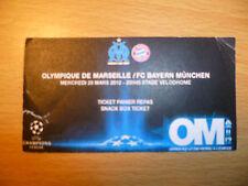 UEFA Champions Leg Ticket-Olympique Marseille v FC BAYERN MUNCHEN, 28/3/2012
