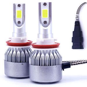 2X 9005 HB3 H10 LED Headlight Kit COB Bulb 110W 26000LM White High Power 6000K