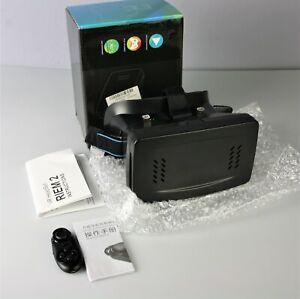 RIEM 2 VR Headset Virtual Reality VR BOX 3D Glasses  E7U7 w/ Gamepad Remote