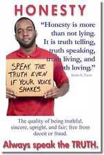 New Motivational Classroom Poster - Honesty - Always Speak the Truth - J. Faust