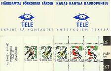 FINLANDE OISEAUX BOUVREUIL MESANGE CHARDONNERET BIRDS VÖGEL MNH CARNET 1990 RARE