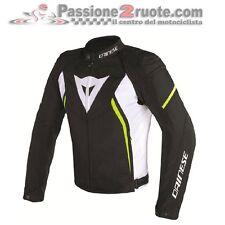 Veste de moto Dainese Avro d2 Tex noir blanc jaune fluorescent taglia 50