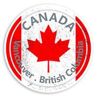 2 x 10cm Vancouver British Columbia Vinyl Stickers Canada Sticker Luggage #20126