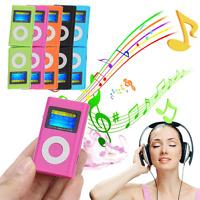 USB Mini Digital MP3 Player LCD Screen Support 2/4/8/16GB/32GB Micro SD/TF Card