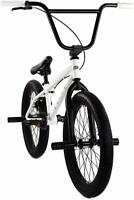 "Elite BMX 20"" Bike Stealth Freestyle White NEW 2020 1-Piece"