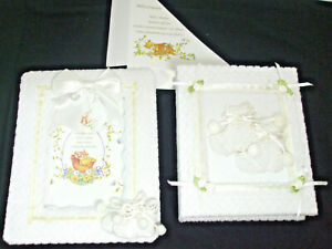 Baby Couture 1 Photo Album Book 100 4x6 Pictures 1 Picture Frame White Lace Bow