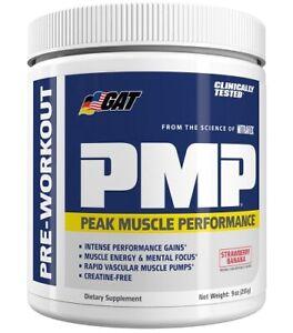 GAT Sport PMP Peak Muscle Performance Preworkout 30 sv Pwder (Strawberry Banana)