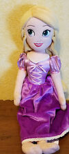 Disney Store Tangled Rapunzel Doll Purple Dress stuffed/plush - 19""