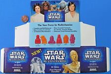 Vitamin box flat unused 1991 vintage Yoda Luke Leia - Star Wars