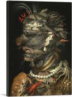 ARTCANVAS The Water 1566 Canvas Art Print by Giuseppe Arcimboldo