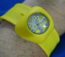 SLAP WRIST BT NEON YELLOW APPLE SILICONE BAND watch new battery RUNNING A10