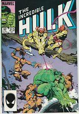The Incredible Hulk Vol.1 #313 Marvel 1985 Vf/Nm New Unread Mike Mignola Art