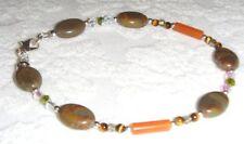 Handcrafted bronzite / adventurine/tiger's eye/crystal anklet / ankle bracelet