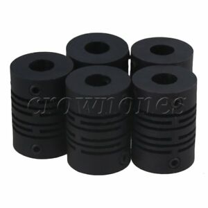 5x Plastic Encoder Coupling for Motor Driven Shaft Coupler D15L21 6x6mm