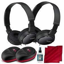 Sony MDRZX110AP ZX Series Extra Bass Smartphone 2-Pack Black Headset with Mic (2