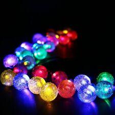 LED Solar Lichterketten Kugeln Lichtkette Weihnachtsbeleuchtung Außen 20 Leuchte