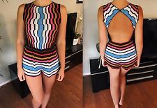 NEW MISSONI SEXY KNIT HALTER OPEN BACK ROMPER JUMPSUIT IT 40