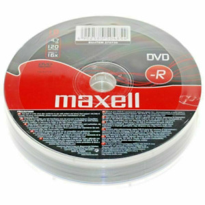 Maxell DVD-R Recordable Blank DVD Discs In Sleeves 1/5/10 Pack 4.7GB 120 Min 16x