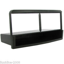 CT24FD35 FORD FOCUS MK1 1998 to 2004 BLACK SINGLE DIN FASCIA WITH FIXED POCKET