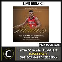 2019-20 PANINI FLAWLESS BASKETBALL 1 BOX HALF CASE BREAK #B542 - PICK YOUR TEAM