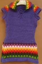 NEW ALPACA WOOL GIRL CHILD TODDLER SWEATER JUMPER PURPLE COLOR, 3T SIZE, SOFT a