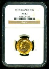 CANADA 1911 C GOLD COIN GV SOVEREIGN * NGC CERTIFIED GENUINE MS 62 * LUSTROUS