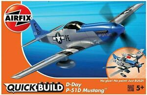 Brand New Airfix Quick Build D-Day P-51 D Mustang Model Kit J6046