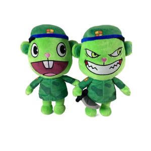 2PCS Happy Tree Friends HTF Flippy Fliqpy Stuffed Doll 28cm Anime Plush Toy Gift