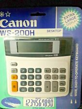 New ListingCanon Ws-200H,Desktop, Ex.Large Display,Solar And Battery, Calculator,Box Of 5