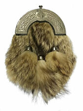 pour hommes Kilt écossais escarcelle FOURRURE DE RENARD CELTIQUE Chardon antique