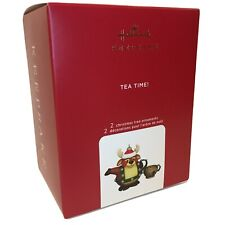 2020 Hallmark Tea Time Set Of 2 Tea Pot and Cup Final in the series Ornament #5