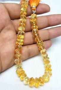 Semi-Precious Gemstones Citrine Faceted Rondelle 7mm