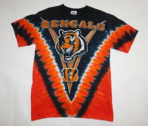 Vintage 1990s 2000s CINCINNATI BENGALS NFL Majestic Tie Dye Dyed T Shirt Men's M