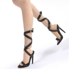 SCALA 1//6 Nero Tacco Alto Sandali modello Accessorio per pH tbleagure figura donna