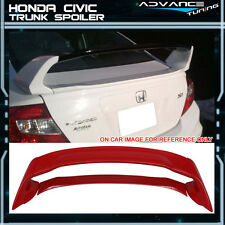 12-15 Honda Civic Mugen Style Trunk Spoiler Painted Rallye Red - ABS