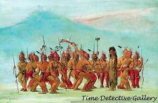 Dance to the Berdache (The Bear Dance) by George Catlin -American West Art Print