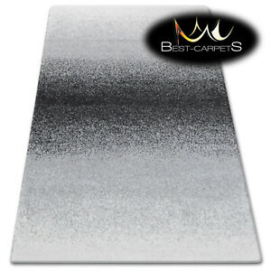 Thick Quality 20mm Modern Design Densely Soft Rugs SHADOW 8621 black white