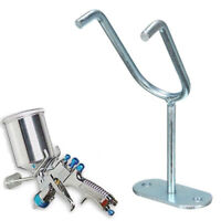 Paint Spray Gun Holder Stand Gravity Feed HVLP Wall Bench Mount Hook Booth Cup L