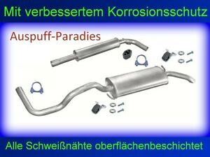 Abgasanlage Auspuff für VW Polo III 1.4 Classic & Variant / Kombi 54 & 60PS +Kit