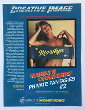 1982 adult film ad slick ~ MARILYN CHAMBERS' PRIVATE FANTASIES #2