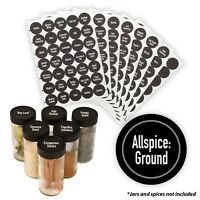 "AllSpice 315 Preprinted Water Resistant Round Spice Jar Labels Set 1.5""-"