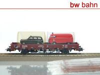 Liliput H0 L231121 Fährboot-Rungenwagen Rbmms der DB + 2 Auto Neu