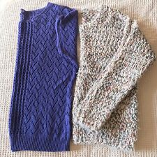 Ladies Jumper Bundle Size 12 Purple Cream Autumn